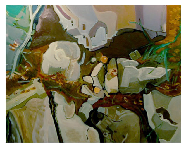 Land of Rocks VIII -  Acrylic on canvas - 32x44 - 81cmx112cm