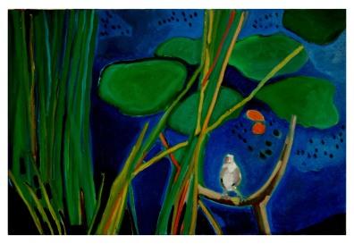 """Sparrow - Oil On Canvas - 24""""x36""""/TMORISR /Sold"""
