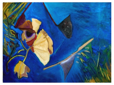 "Water Lily's Dry Leaves - Oil On Canvas - 30""x40"" - Price: $2500.00"
