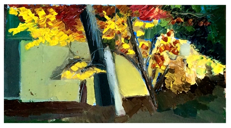 Foliage at Millys Garden - 14 - Oil On Canvas - 6x20