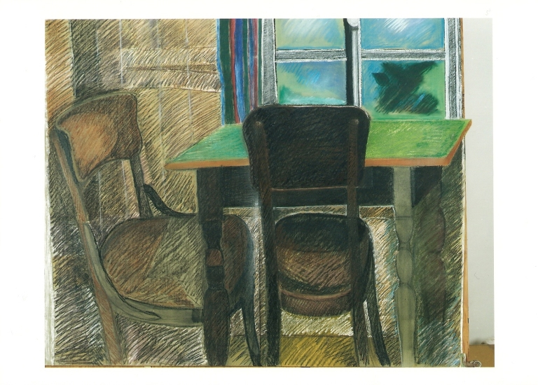 my grandmothers kitchen pastel 80x100cm