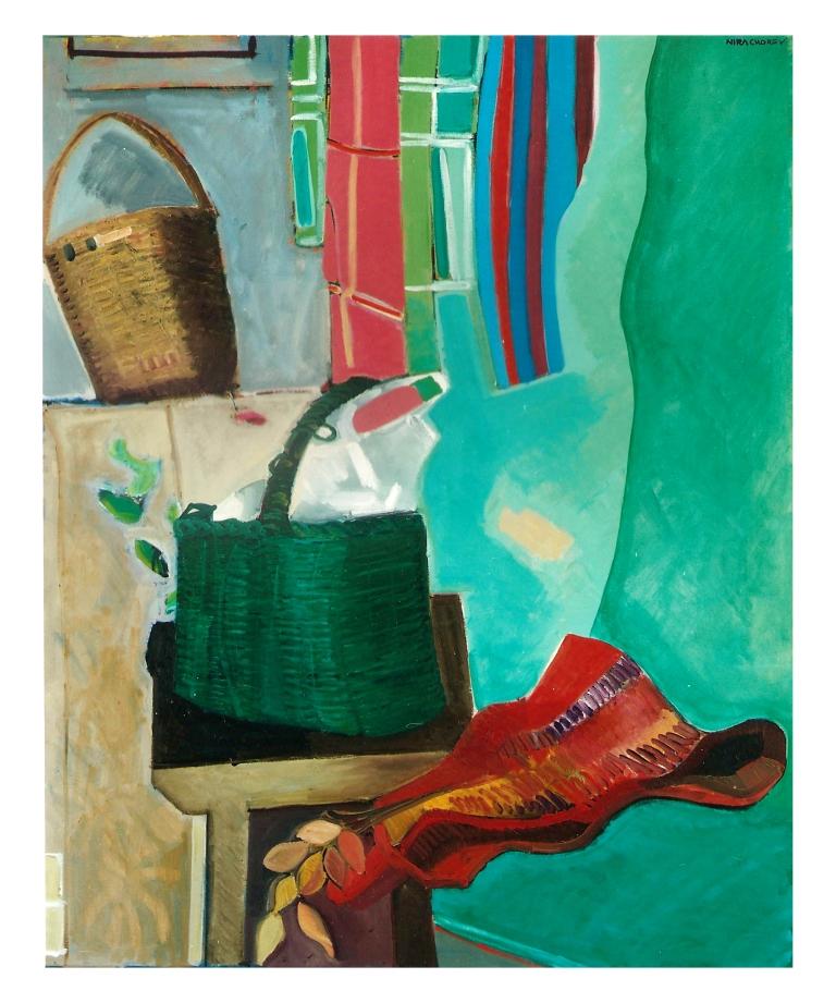 Three Baskets - Oil On Canvas - 80x100cm
